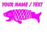 Custom Pink Coy Fish