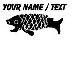 Custom Black Coy Fish