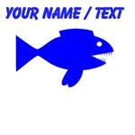 Custom Blue Cartoon Fish