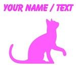 Custom Pink Cat Sitting
