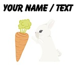 Custom White Bunny With Carrot