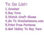 To Do List Crochet Shirts