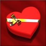 Heart-shaped box of chocolate - closed