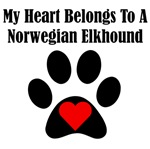 My Heart Belongs To A Norwegian Elkhound