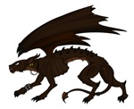 Black Dragon With Wings