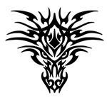Black Tattoo Dragon Face
