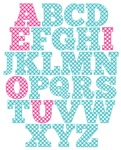 Blue And Pink Alphabet