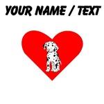 Custom Dalmatian Puppy Heart