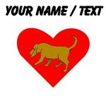 Custom Bloodhound Heart