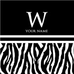 Zebra Animal Print Monogram