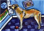 ANATOLIAN SHEPHERD Dog whimsical art!