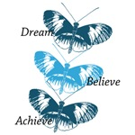 Blue Inspirational Butterflies