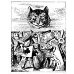 Vintage Cat in Alice in Wonderland