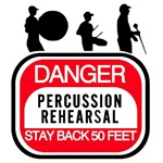 Marching Band Percussion Rehearsal