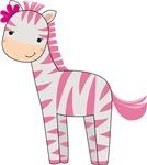 Cute Baby Girl Zebra