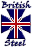 British Steel Motorcyle Union Jack Maltese Biker Maltese Iron Chopper Cross