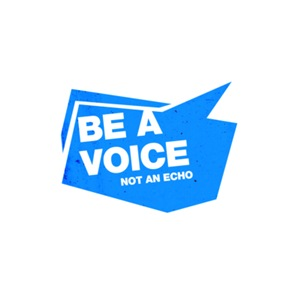 Be a Voice, not an Echo - blue