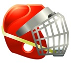 Red Lacrosse Helmet