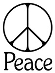 Elegant 'Peace' Sign ~ An elegantly lined rendition of  venerable peace symbol with a little