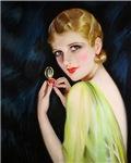 Roaring 20's Flapper Art Deco Putting on Makeup