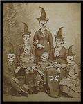 Victorian Skeleton Family Goth Dark Altered Art