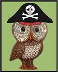 Pirate Owl Whimsical Kitsch Kawaii