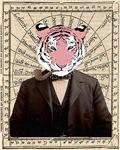 Gentleman Sir Tiger Victorian Steampunk Altered Ar