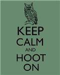 Keep Calm and Hoot On Owl Parody Humor