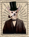 Steampunk Chihuahua Dog Victorian Altered Art