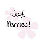 Pastel Flowers Just Married