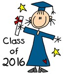Stick Figure Girl Grad 2014 T-shirts and Gifts
