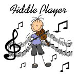 Stick Figure Fiddle Player T-shirts and Gifts