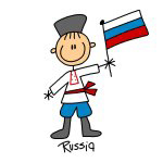 Russia Ethnic Stick Figure T-shirts and Gifts
