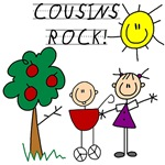 Cousins Rock Four T-shirts and Gifts