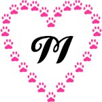 Monograms Inside Pink Paw Heart