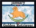 Golden Retriever Rocking Dog Calendar Designs