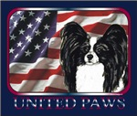 Papillon United Paws Patriotic Flag Gifts Items