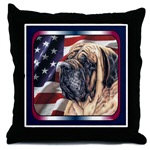 Tasteful Mastiff Pillows, Tile Boxes, and Coasters