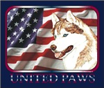 Siberian Husky United Paws US Flag Gift Items