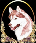 Red Siberian Husky Holiday/Christmas Gold Products