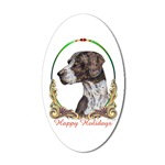 German Shorthaired Pointer Dog Holiday Stickers