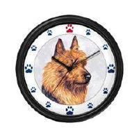 Australian Terrier Dog Clocks and Mousepads