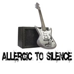 Allergic to Silence Guitar t-shirts and gifts.