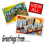 Historic Vintage Postcards including the Retro Greetings From States ... we have all fifty states including California, New York and your favorite US State.