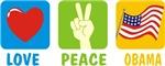 Love Peace Obama