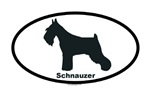 Dog breed oval stickers
