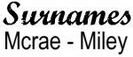 Vintage Surname - Mcrae - Miley