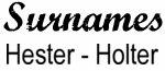 Vintage Surname - Hester - Holter