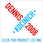Twisted Kucinich 2008 T-shirts & Stickers