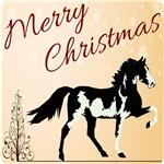 Merry Christmas Spotted Saddle Horse